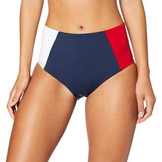Tommy Hilfiger Women's Hw Bikini Thong, (Blue 416), One (Size: MD)