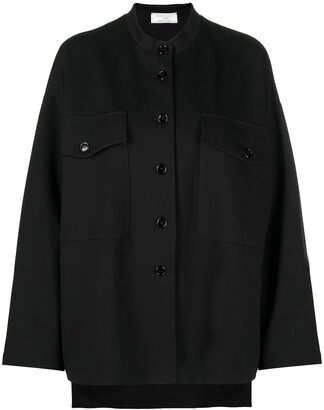 Societe Anonyme Collarless Button-Up Shirt