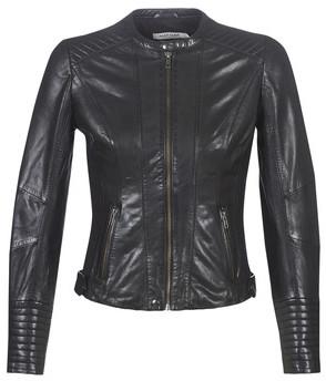 Naf Naf CHINALI women's Leather jacket in Black