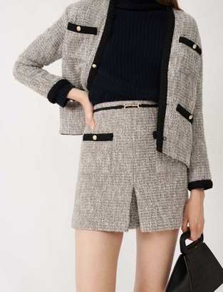 Maje Recycled cotton tweed-style skirt