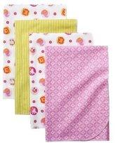 Kids Line Tiddliwinks Sweet Safari 4pk Receiving Blankets