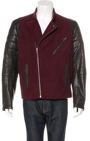 Yigal Azrouel Wool-Blend Leather Jacket
