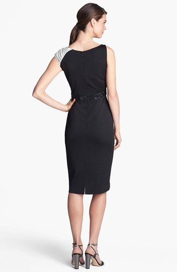 St. John Liquid Satin & Sateen Milano Knit Dress