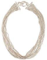Robert Lee Morris Twelve Row Multistrand Box Chain Necklace