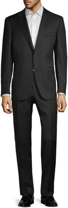 Canali Slim-Fit Solid Wool Suit