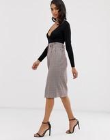 Closet London Closet pleated pencil skirt