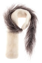Prada Fur and feather scarf