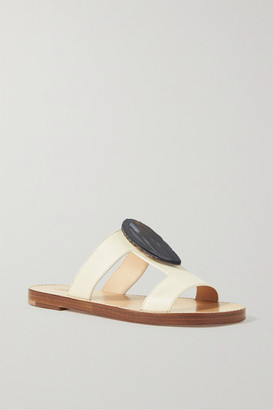 Gabriela Hearst Hades Embellished Cutout Leather Sandals - Ivory