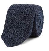 Ermenegildo Zegna 6cm Reversible Mélange Knitted Silk and Wool-Blend Tie