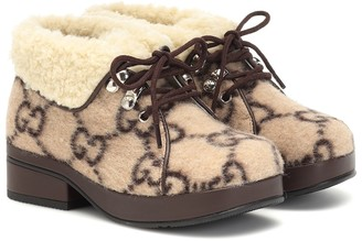 Gucci Kids GG wool ankle boots