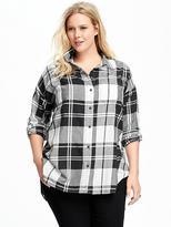 Old Navy Boyfriend Plus-Size Plaid Flannel Shirt