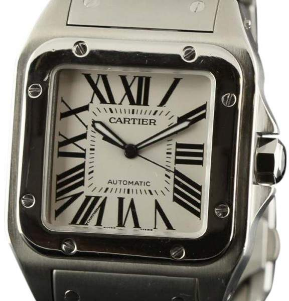 Cartier Santos W200737G Automatic Stainless Steel White Mens Watch