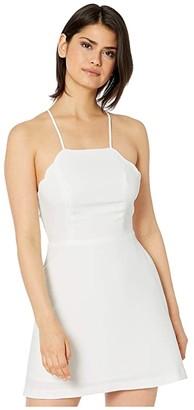 BCBGeneration Scalloped Edge Flirty Dress GEF6284851 (Optic White) Women's Dress