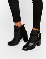 Miss KG Swift Buckle Strap Heeled Ankle Boots