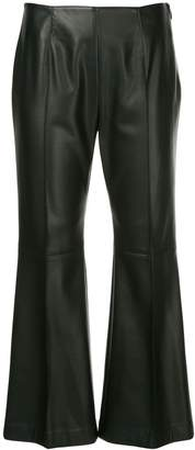 GOEN.J faux-leather cropped trousers