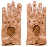 Bottega Veneta Perforated Leather Gloves