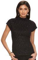 JLO by Jennifer Lopez Women's Embellished Boucle Top