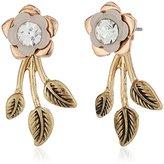 lonna & lilly Gold-Tone Flower Floater Drop Earrings