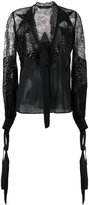 Elie Saab sheer embellished blouse - women - Silk/Nylon/Polyamide/Rayon - 38