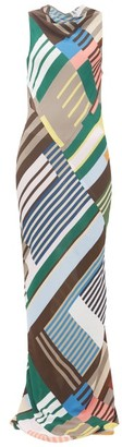 Rick Owens Scorpio Abstract-print Crepe Dress - Womens - Grey Multi