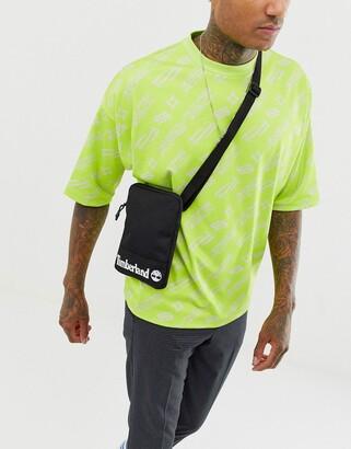 Timberland mini cross body logo bag in black
