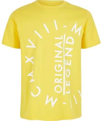 River Island Boys yellow MCMXVIII T-shirt