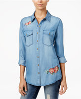 Velvet Heart Theresa Embroidered Denim Shirt