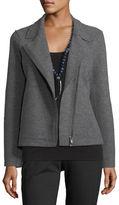Eileen Fisher Boiled Wool Moto Jacket, Petite