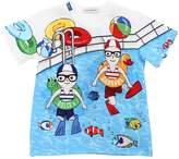 Dolce & Gabbana Swimming Pool Cotton Jersey T-Shirt