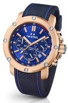 TW Steel Men's Grandeur Tech Silicone Strap Watch, 48Mm