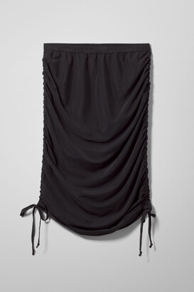 Weekday Vela Mesh Skirt - Black