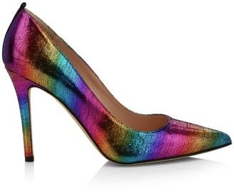 Sarah Jessica Parker Fawn Rainbow Leather Pumps