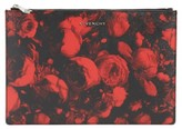 Givenchy Roses Print Pouch - Red