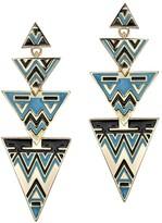 House Of Harlow Antiqued Tribal Drop Earrings