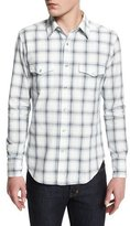 Tom Ford Western-Style Large-Check Sport Shirt, Indigo