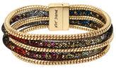 Betsey Johnson Confetti Goldtone Multi-Row Mesh Bracelet