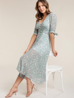 Forever New Sadie Tie Detail Maxi Dress - Meadow Ditsy - 14