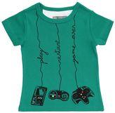 Milk On The Rocks Videogames Print Cotton Jersey T-Shirt