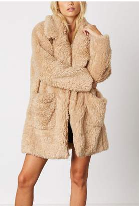 Cotton Candy Lapel Teddy Coat