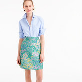 J.Crew Collection A-line skirt in Impressionistic jacquard