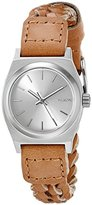 Nixon Women's A5092082 Small Time Teller Leather Analog Display Japanese Quartz Brown Watch