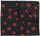 Saint Laurent rose polka dot print scarf