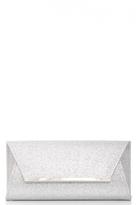 Quiz Silver Glitter Envelope Clutch Bag