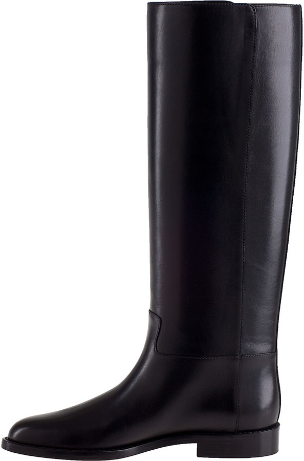 Valentino Studded Tall Boot Black Leather