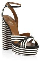 Aquazzura Sundance Plateau Leather Platform Sandals