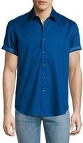 Robert Graham Vertigo Short-Sleeve Sport Shirt, Navy