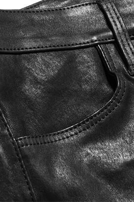J Brand Maria Leather Skinny Pants - Black