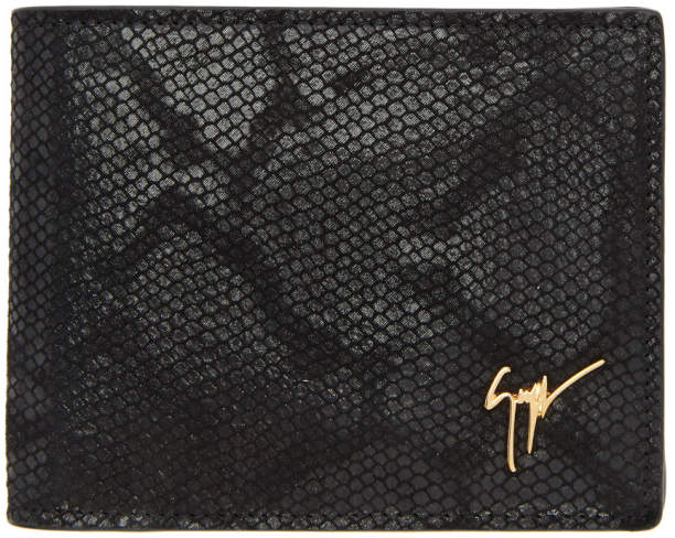 Giuseppe Zanotti Black Hooligan Wallet