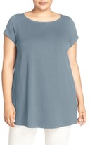 Eileen Fisher Plus Size Women's Jersey Bateau Neck Tunic