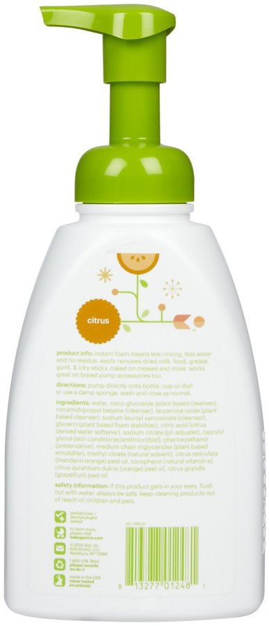 BabyGanics Foaming Dish & Bottle Soap - Citrus - 16 oz - 2 pk